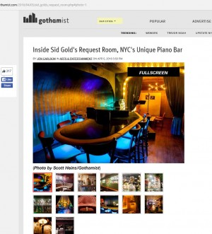 Sid Golds Featured on the Gothamist