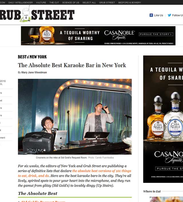 Sid Golds Named Best Karaoke Bar In New York | Sid Gold's Request Room