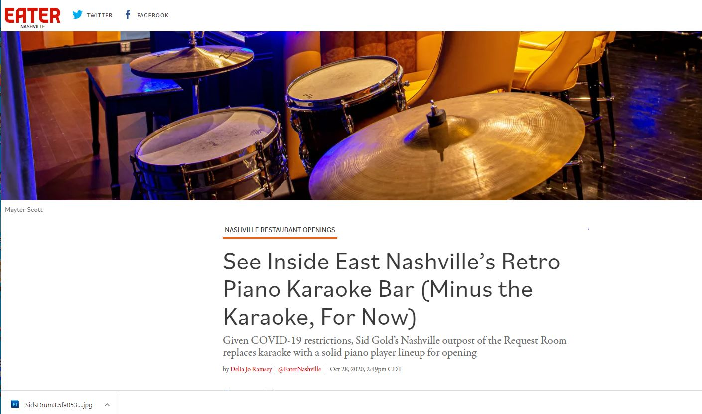 Sid Gold's Nashville featured on Eater.com