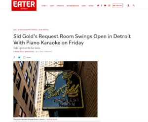 Sid Gold's Request Room Swings Open in Detroit With Piano Karaoke on Friday